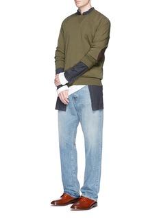 Maison MargielaLeather elbow patch sweatshirt