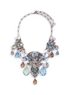 Lanvin 'Ginger' glass crystal plastron necklace