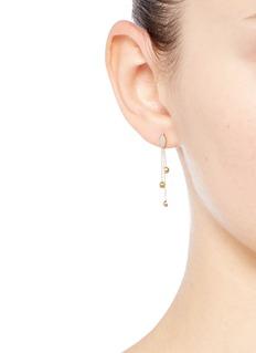 Xiao Wang'Gravity' diamond opal stone 14k yellow gold earrings