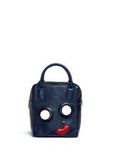 A-Esque'Box Base Mini E-Motion' appliqué leather bag