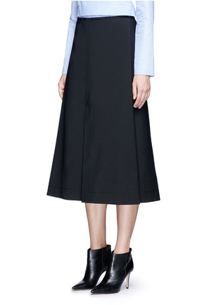 Front View - Click To Enlarge - Ellery - 'Fastrada' pleat virgin wool blend skirt