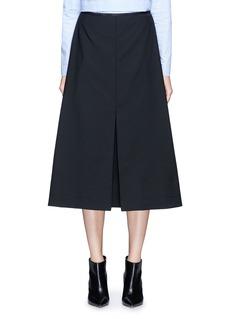 Ellery'Fastrada' pleat virgin wool blend skirt