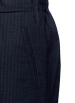 'Pigiama' drawstring waist herringbone pants