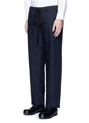 Front View - Click To Enlarge - Uma Wang  - 'Pigiama' drawstring waist herringbone pants
