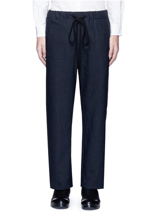 Main View - Click To Enlarge - Uma Wang  - 'Pigiama' drawstring waist herringbone pants