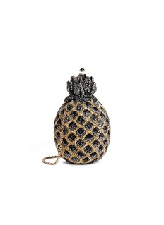 Judith Leiber 'Pineapple' crystal pavé minaudière