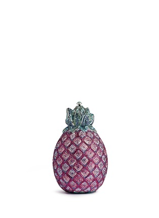 Main View - Click To Enlarge - Judith Leiber - 'Pineapple' crystal pavé minaudière