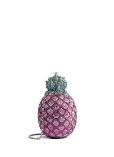 JUDITH LEIBER'Pineapple' crystal pavé minaudière