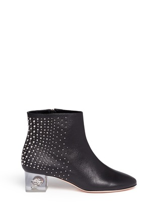 Main View - Click To Enlarge - Alexander McQueen - Floating skull heel stud leather boots