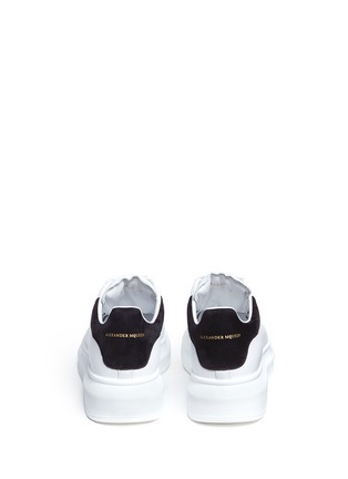 Back View - Click To Enlarge - Alexander McQueen - Chunky outsole suede collar leather sneakers