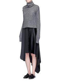 Elizabeth and James'Sydney' asymmetric handkerchief hem silk skirt