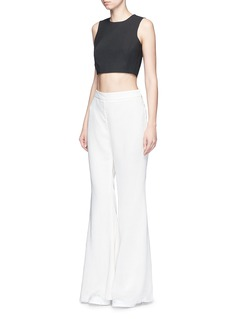 Elizabeth and James'Bowen' darted cropped top