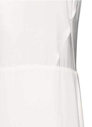 Detail View - Click To Enlarge - Elizabeth and James - 'Cody' silk satin bodice crepe gown