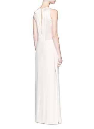 Back View - Click To Enlarge - Elizabeth and James - 'Cody' silk satin bodice crepe gown