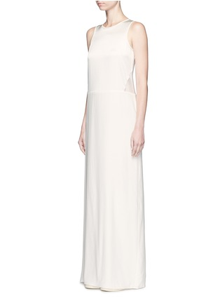 Front View - Click To Enlarge - Elizabeth and James - 'Cody' silk satin bodice crepe gown