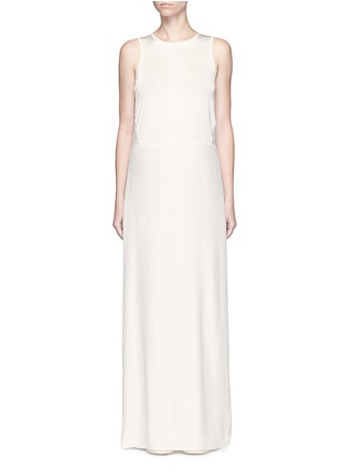 Main View - Click To Enlarge - Elizabeth and James - 'Cody' silk satin bodice crepe gown