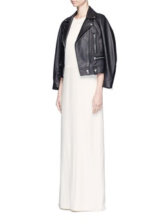 Elizabeth and James 'Cody' silk satin bodice crepe gown