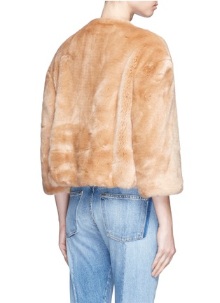 Back View - Click To Enlarge - Elizabeth and James - 'Sawyer' faux fur cropped jacket