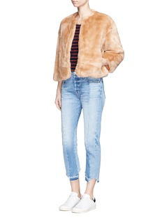 Elizabeth and James 'Sawyer' faux fur cropped jacket
