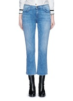 'The Kick' relaxed fit cropped jeans
