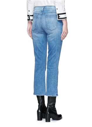 Back View - Click To Enlarge - Current/Elliott - 'The Kick' relaxed fit cropped jeans
