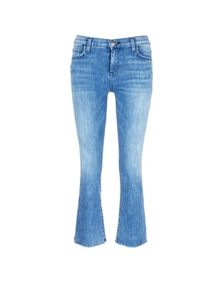 Main View - Click To Enlarge - Current/Elliott - 'The Kick' relaxed fit cropped jeans