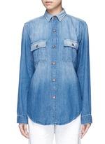 'The Whitney Prep' patchwork denim shirt