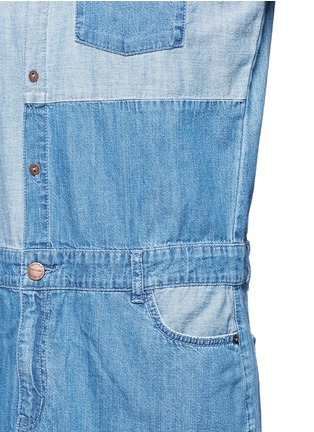 Detail View - Click To Enlarge - Current/Elliott - 'The Whitney' patchwork denim shirt dress