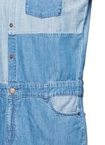 'The Whitney' patchwork denim shirt dress