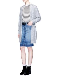 Current/Elliott'The Dotty' released hem button denim skirt