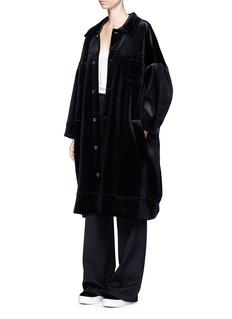 FENTY PUMA by RihannaOversized velvet neoprene trucker jacket