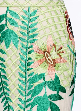 Detail View - Click To Enlarge - Temperley London - 'Belle' floral embroidery tulle maxi fishtail skirt