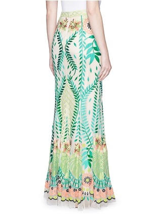 Back View - Click To Enlarge - Temperley London - 'Belle' floral embroidery tulle maxi fishtail skirt