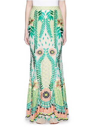 Main View - Click To Enlarge - Temperley London - 'Belle' floral embroidery tulle maxi fishtail skirt
