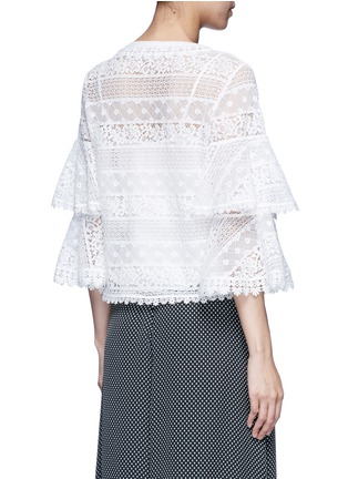 Back View - Click To Enlarge - Temperley London - 'Desdemona' bell sleeve floral lace blouse