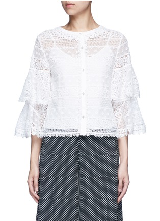 Main View - Click To Enlarge - Temperley London - 'Desdemona' bell sleeve floral lace blouse