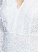 'Desdemona' inset floral guipure lace pleat dress
