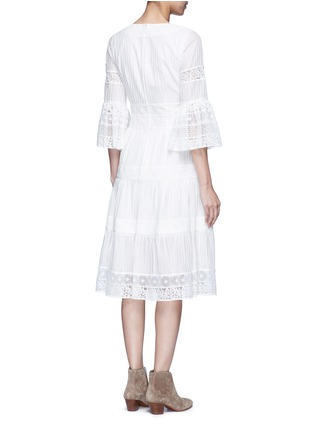 Back View - Click To Enlarge - Temperley London - 'Desdemona' inset floral guipure lace pleat dress