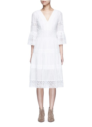 Main View - Click To Enlarge - Temperley London - 'Desdemona' inset floral guipure lace pleat dress