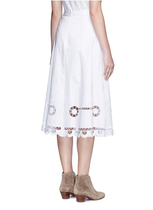 Back View - Click To Enlarge - Temperley London - 'Midi Bellanca' folk embroidery skirt