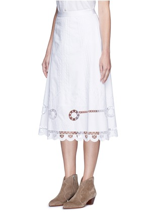Front View - Click To Enlarge - Temperley London - 'Midi Bellanca' folk embroidery skirt