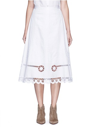 Main View - Click To Enlarge - Temperley London - 'Midi Bellanca' folk embroidery skirt