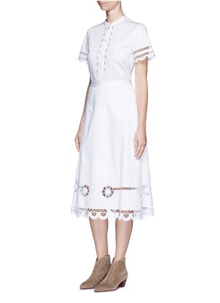 Figure View - Click To Enlarge - Temperley London - 'Midi Bellanca' folk embroidery skirt