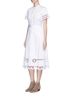 Temperley London'Midi Bellanca' folk embroidery skirt