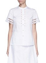 'Bellanca' guipure lace cotton shirt