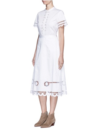 Figure View - Click To Enlarge - Temperley London - 'Bellanca' guipure lace cotton shirt