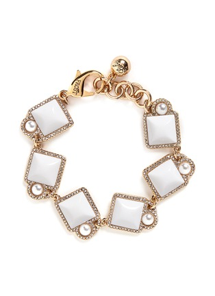 Lulu Frost - 'Mary' glass pearl square cabochon bracelet