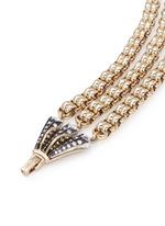 'Brigitte' glass stone fan clasp bracelet