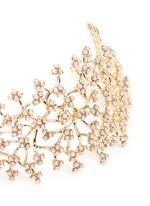'Jackie' glass seed pearl vine headpiece