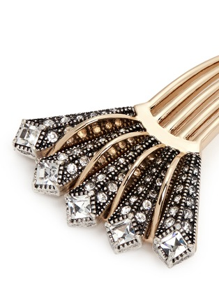 Detail View - Click To Enlarge - Lulu Frost - 'Brigitte' glass stone Art Deco hair comb
